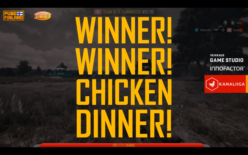 Victory screen of PUBG