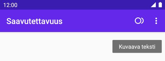 Kuvankaappaus esimerkkimobiilisovelluksesta, jonka ikoni kuvaa ympyrää ja sirppiä. Nyt ikonilla näkyy myös kuvaava teksti, kun sitä painaa riittävän pitkään.