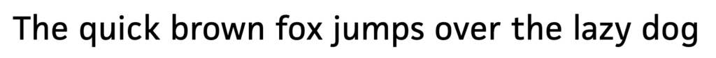 First example sentence of JAF Facit typeface